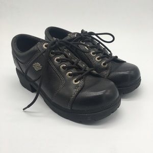 Harley Davidson Tia Oxford Black Leather
